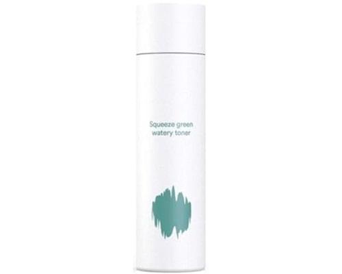 E Nature Squeeze Green Watery Toner, Hydrating Toner Korea Untuk Kulit Berminyak