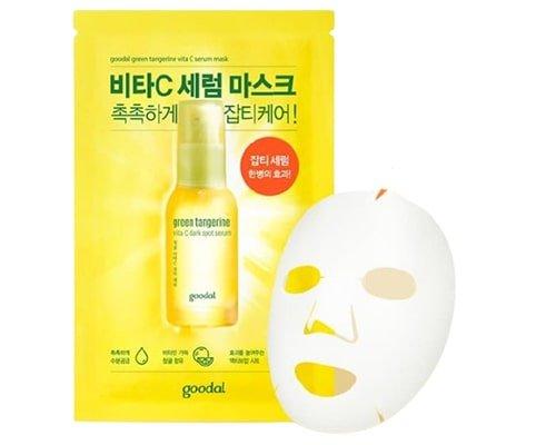 Produk Korea Untuk Mencerahkan Wajah, Goodal Green Tangerine Vita C Serum Mask