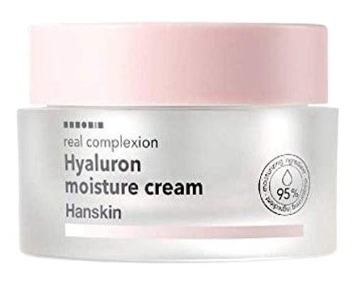 Hanskin Real Complexion Hyaluron Moisture Cream, Pelembab Korea Untuk Mencerahkan Wajah