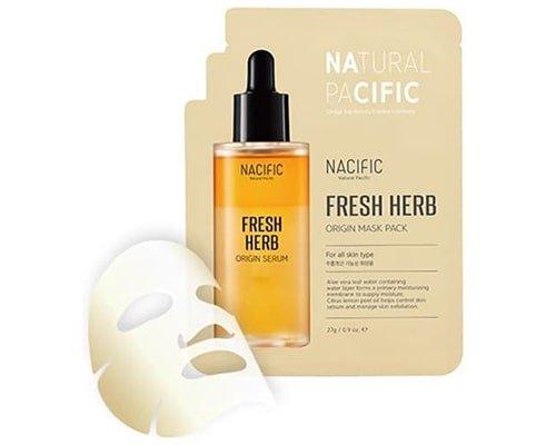 Nacific Fresh Herb Origin Mask Pack, Sheet Mask Korea Terbaik