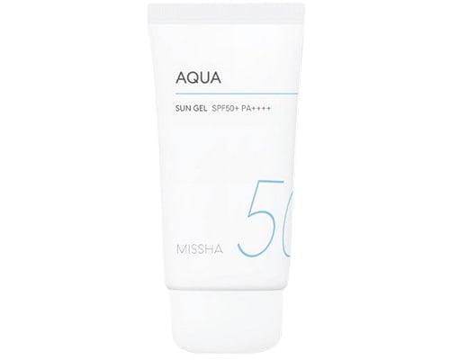Missha All Around Aqua Sun Gel SPF 50, Sunscreen Korea Untuk Kulit Kering
