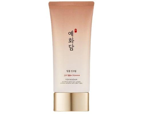 The Face Shop Yehwadam Wrinkle Care Sun Cream SPF 50, Sunscreen Korea Untuk Kulit Kering