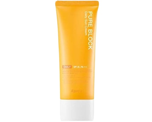 Sunscreen Korea Untuk Kulit Berminyak, APieu Pure Block Natural Sun Cream