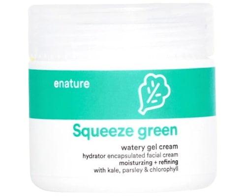 Pelembab Korea Untuk Kulit Kombinasi, Enature Squeeze Green Watery Gel Cream