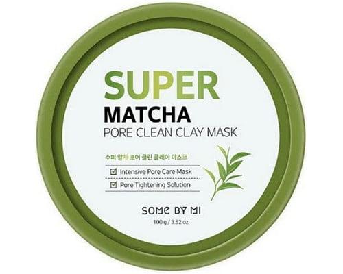 Masker Korea Untuk Kulit Sensitif, Some By Mi Super Matcha Pore Clean Clay Mask