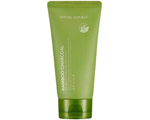Skincare Korea Untuk Fungal Acne, Nature Republic Bamboo Charcoal Mud Pack